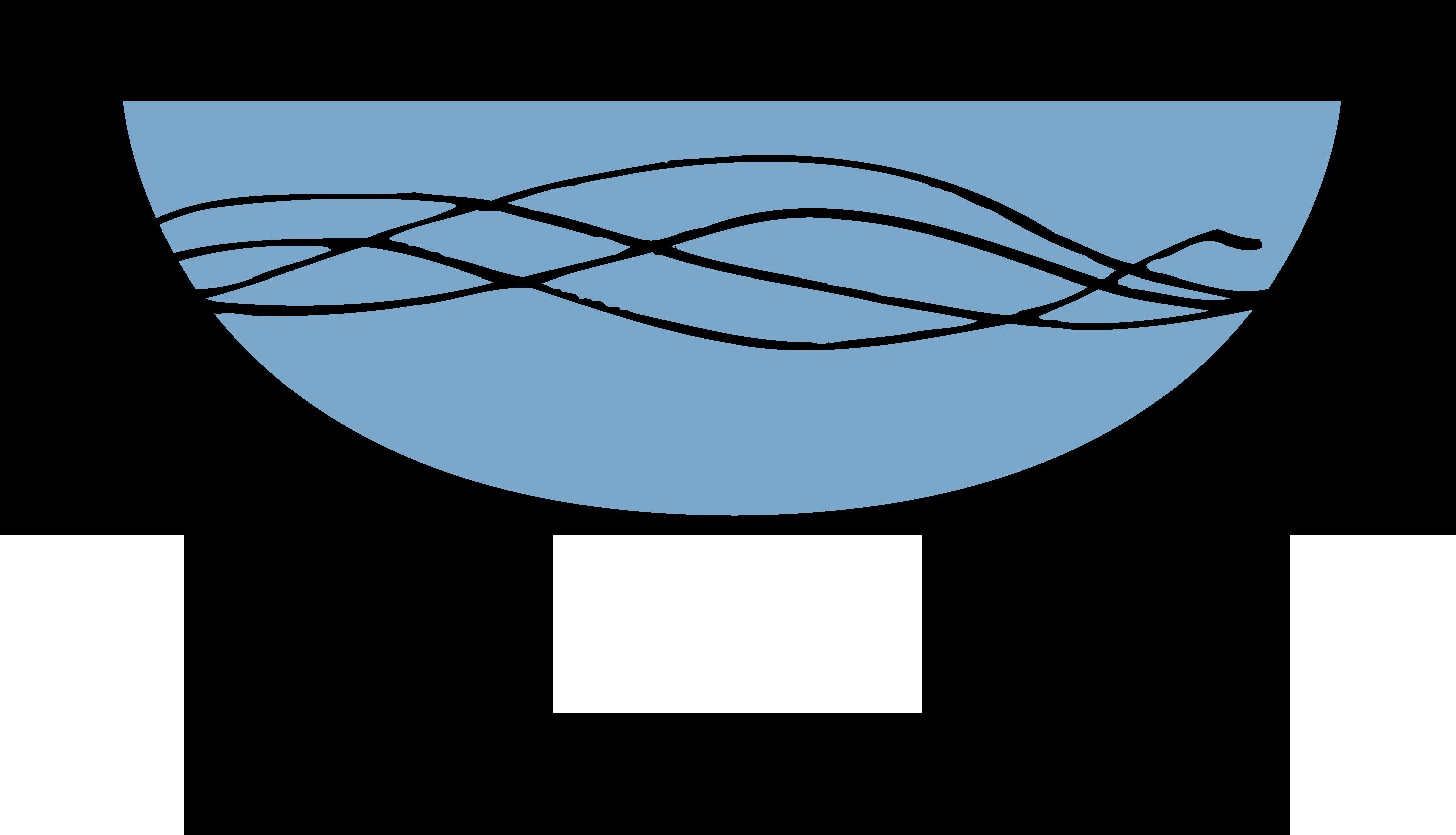 Illustration av dopfunt med vatten
