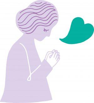 Illustration av kvinna som ber