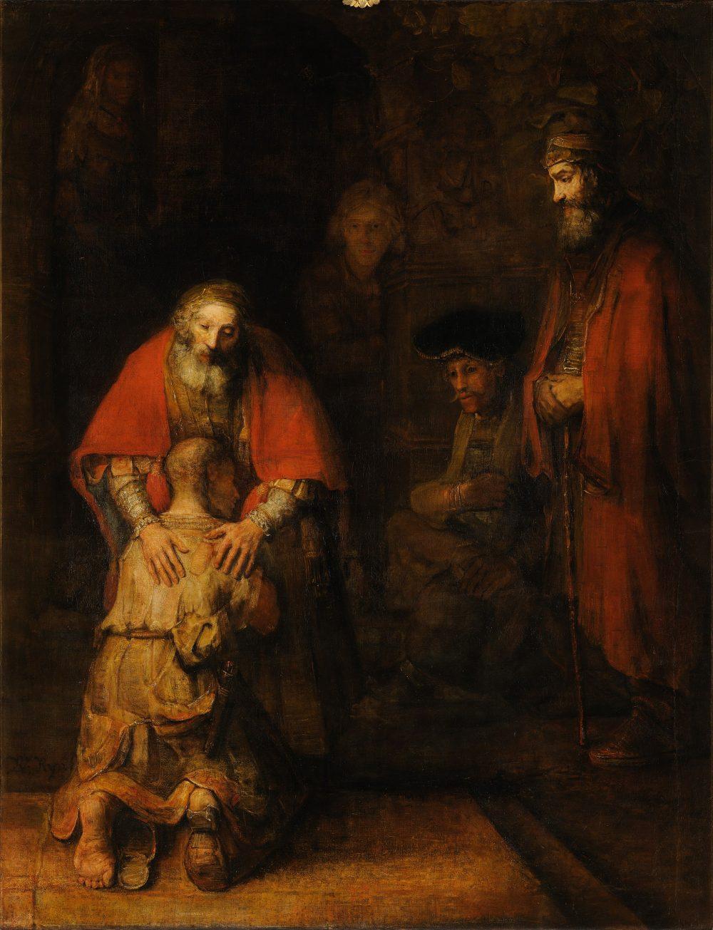 Den förlorade sonens återkomst av Rembrandt Harmenszoon van Rijn
