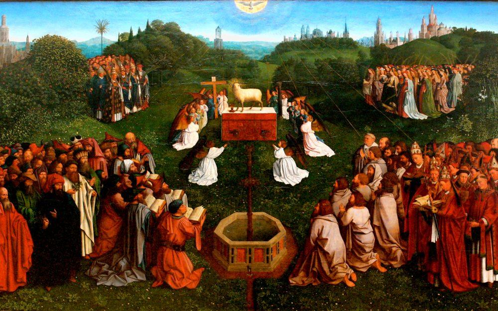 Jan van Eycks målning Tillbedjan till lammet