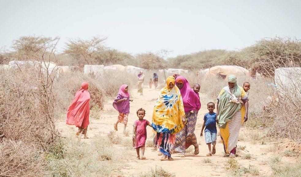 Människor i Somalisk öken