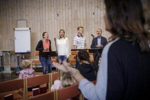 Sångare i gudstjänst