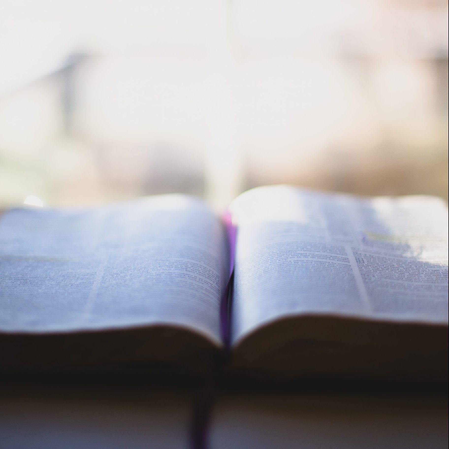 Bild på uppslagen Bibel