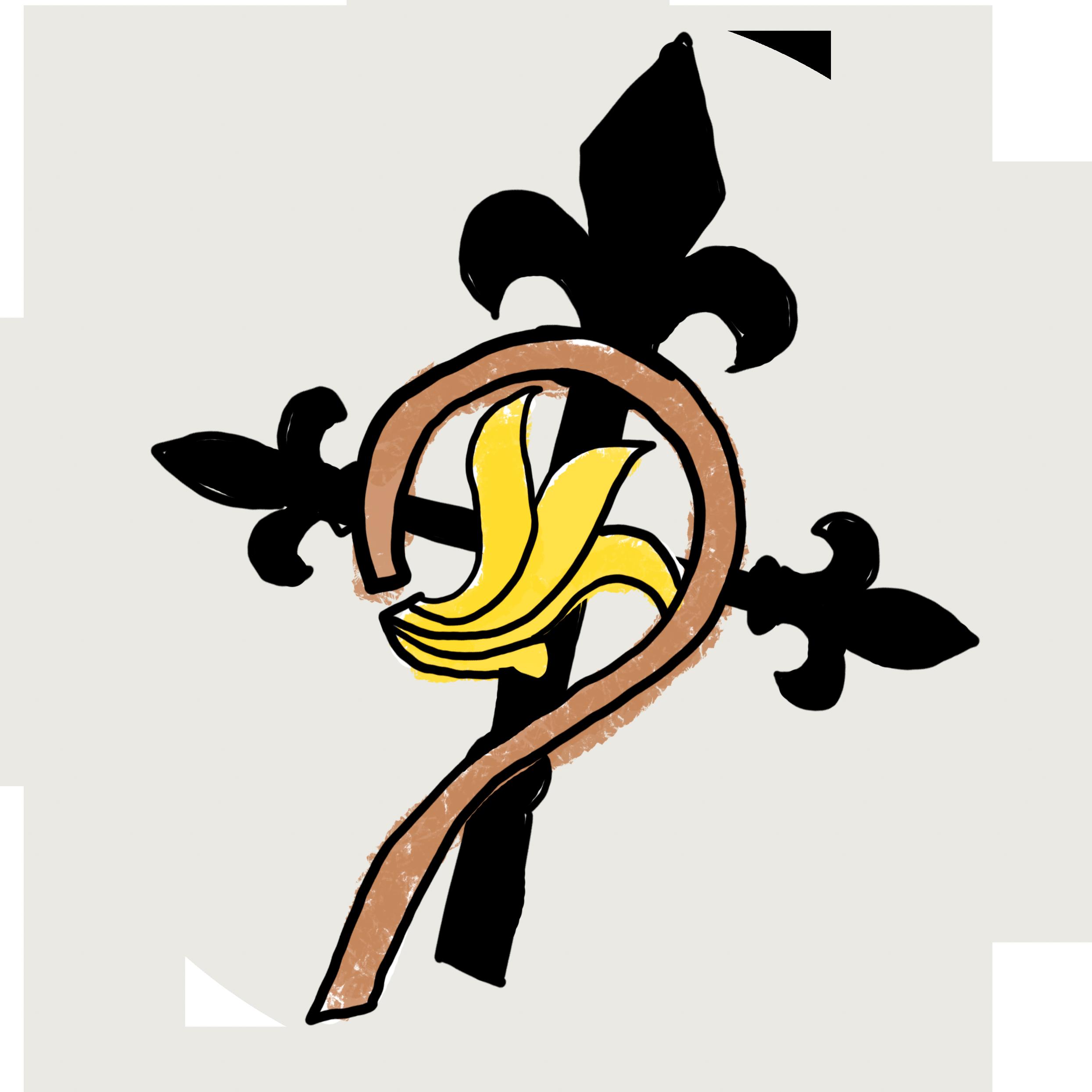 Illustration av ett kors och en kräkla