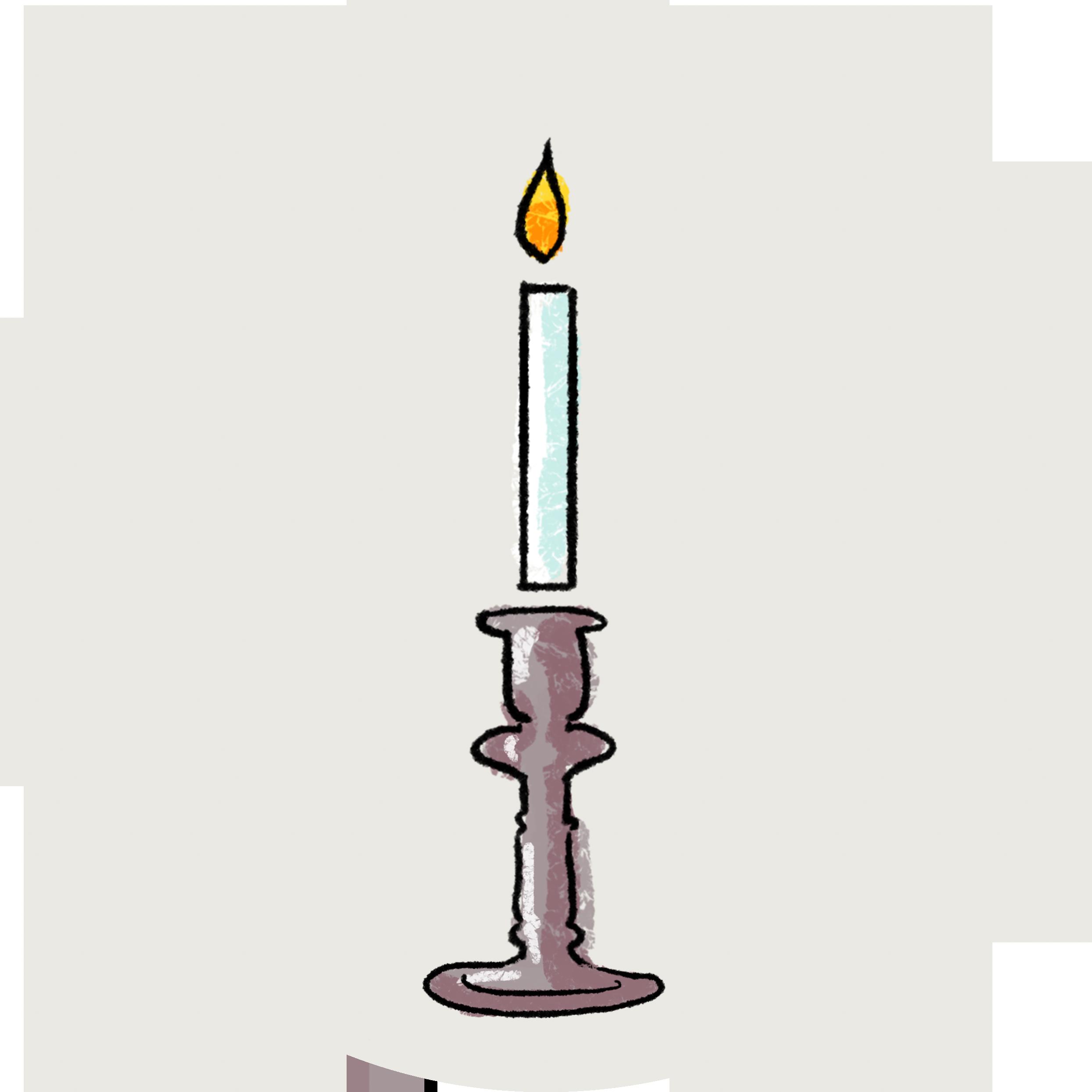 Illustration av ett ljus