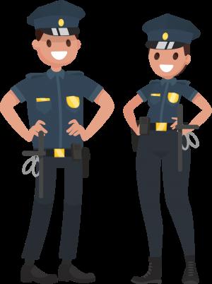 Illustration av två poliser